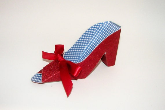 Wizard of Oz Paper Shoe Dorothy's Ruby Slipper Gift Box Favor Box