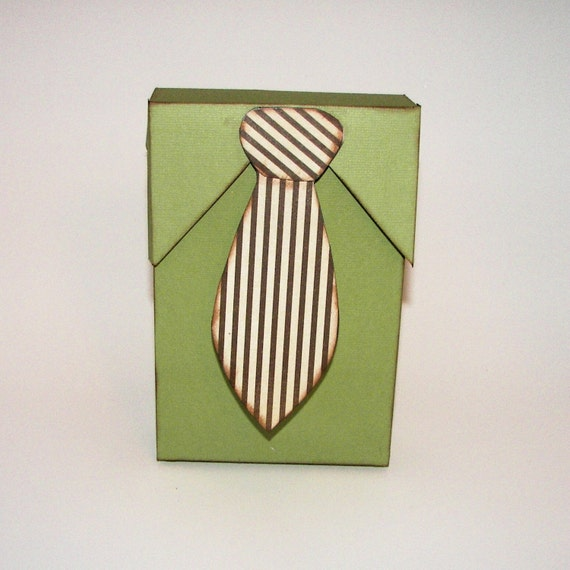 Men's Shirt and Tie Paper Gift Favor Box