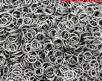 100 pcs Silver Tone Open Jump Rings 6mm - 21 Gauge