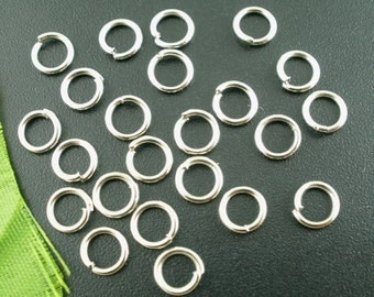 100 pcs Silver Tone Open Jump Rings 5mm - 21 Gauge