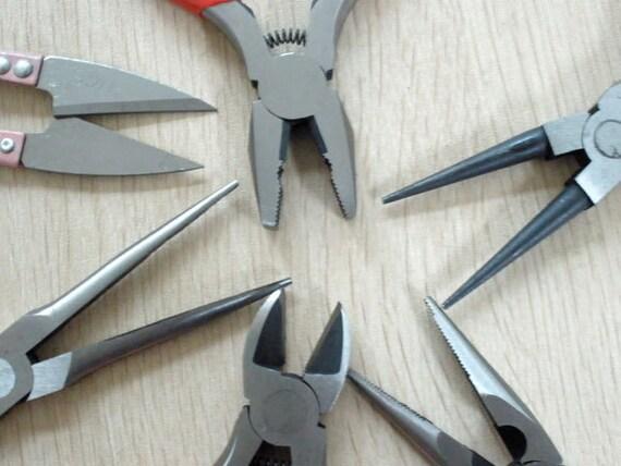 SALE - 7 piece Tool Plier Set in Zippered Case - Steel