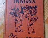 TWO LITTLE INDIANS Antique Cloth Hardcover Book