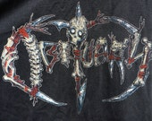 RARE BOOTLEG Vintage Black Long Sleeve Metal OBITUARY Band T-Shirt