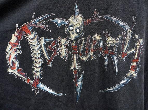 RARE BOOTLEG Vintage Black Long Sleeve Metal OBITUARY Band T-Shirt