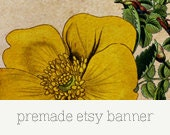 Premade Etsy Shop Banner and Avatar - Floral 05