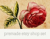 Premade Etsy Shop Set - Floral 07