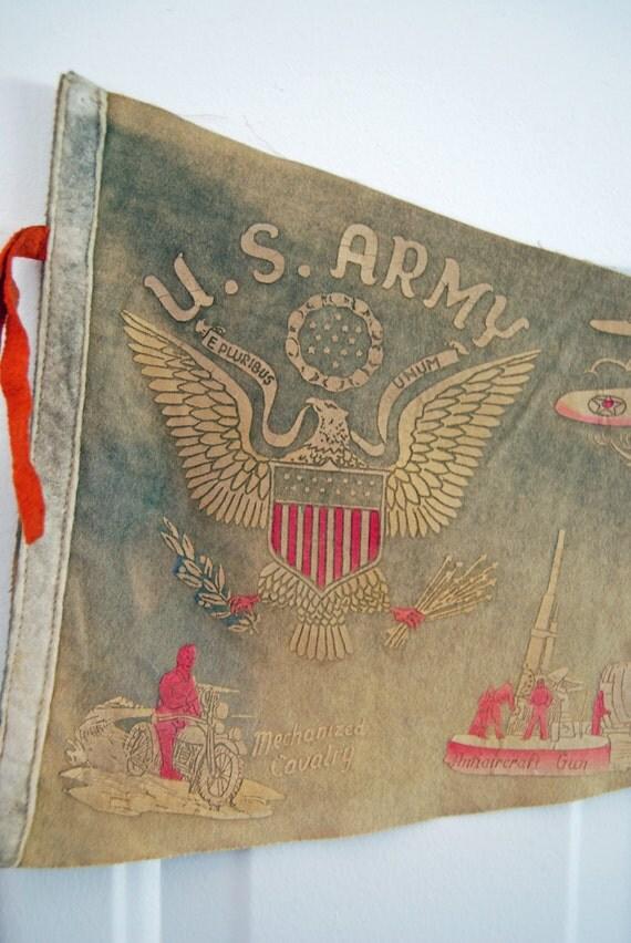 Souvenir USA Army Camp Forest Pennant