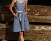 Chambray Victory Apron Dress with Pockets