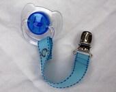 Pacifier Clip in Light Blue