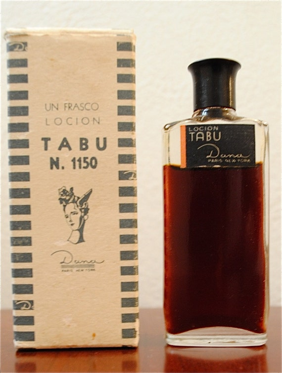 vintage tabu perfume cologne with original box. Black Bedroom Furniture Sets. Home Design Ideas
