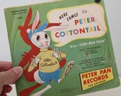 """Vintage Peter Pan """"Here Comes Peter Cottontail"""" 78 rpm Record L32 - 1950"""