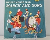 Vintage Disney Golden 78 rpm Record - Mickey Mouse Club March and Song, D222 - 1950's