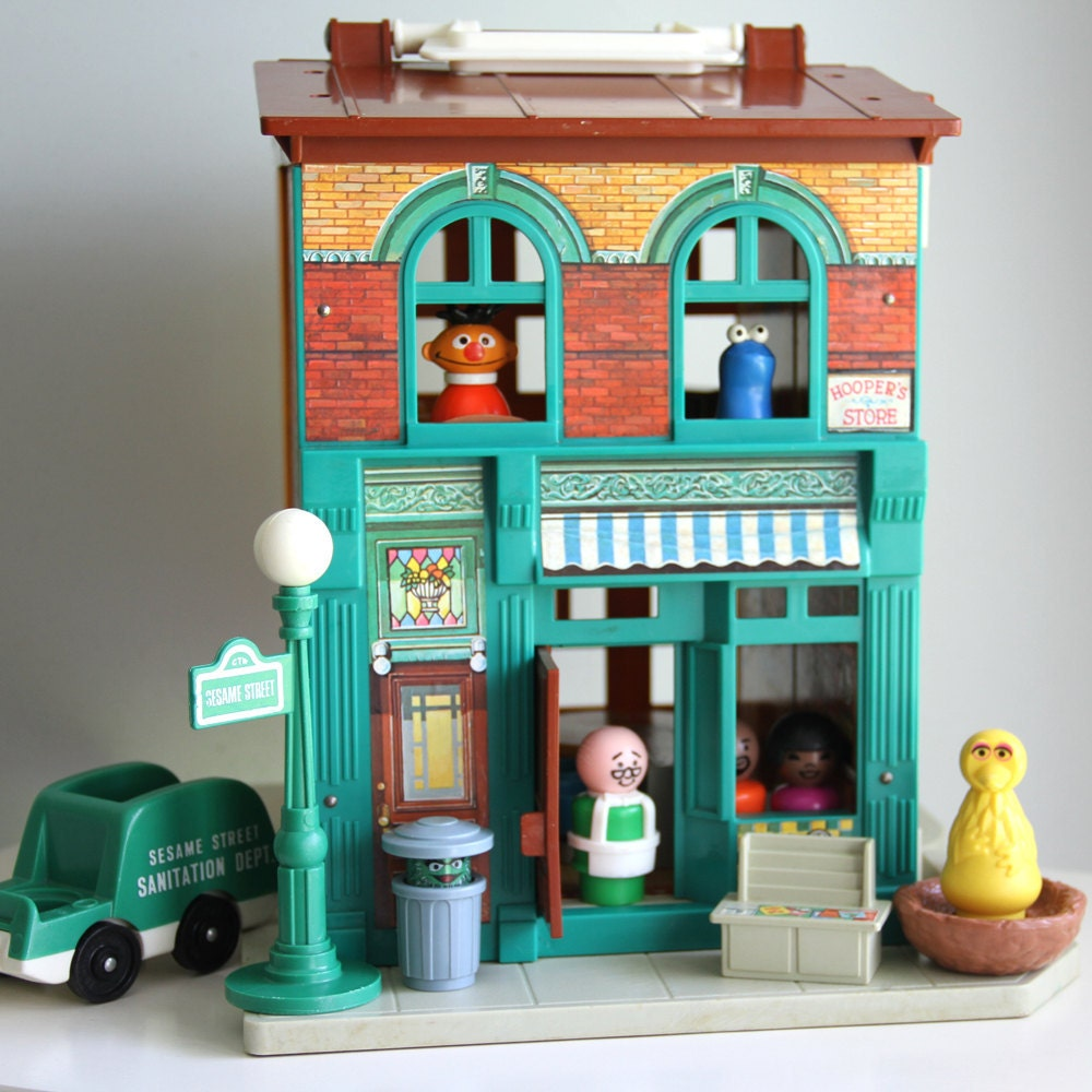 Sesame Street Toys : Vintage fisher price play family sesame street apartment set