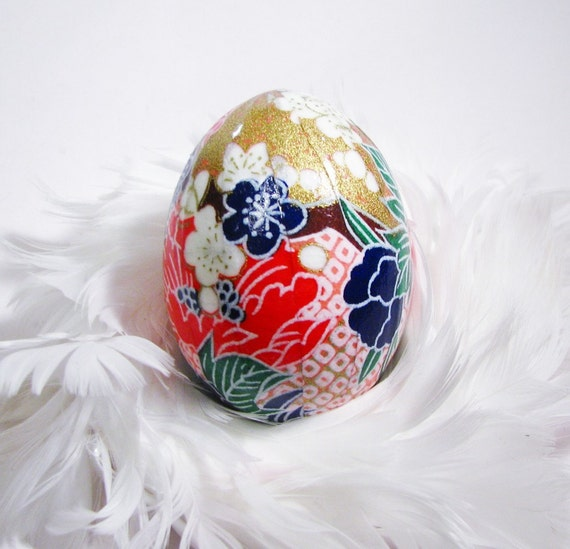Decoupage washi Japanese paper  real egg - Fun Floral