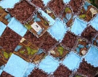 Butterfly Print Baby Raq Quilt - Adoption Fundraiser