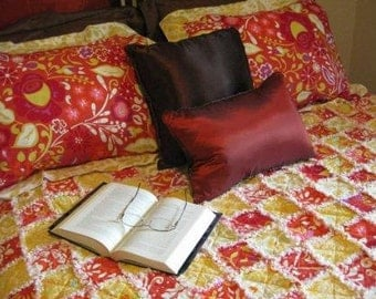 Dena Fishbein Over-sized Queen Quilt with Matching Shams