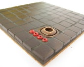 RESERVED FOR FIONAA808 Chocolate biscuit - one of a kind modern mosaic tile