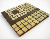 RESERVED FOR FIONAA808 Geometric chocolate and banana - modern mosaic tile