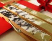 LET IT SNOW - Decorative Clothespins pegs (set of 6)