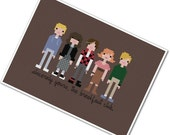 The Breakfast Club - The *Original* Pixel People - PDF Cross Stitch Pattern - INSTANT DOWNLOAD