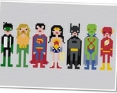The *Original* Pixel People - Justice League of America - PDF Cross Stitch Pattern - INSTANT DOWNLOAD