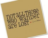 Not All Those Who Wander - Wee Little Quotes PDF Cross Stitch Pattern - INSTANT DOWNLOAD