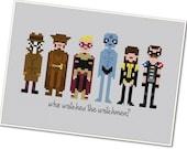 The *Original* Pixel People - The Watchmen - PDF Cross-stitch Pattern - INSTANT DOWNLOAD