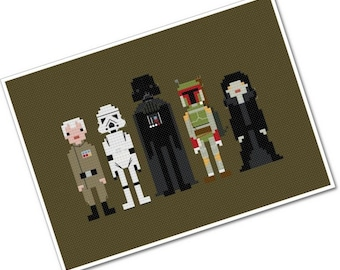 Star Wars - Enemies - The *Original* Pixel People - PDF Cross stitch Pattern - INSTANT DOWNLOAD