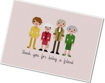 The Golden Girls - The *Original* Pixel People - PDF Cross-stitch Pattern - INSTANT DOWNLOAD