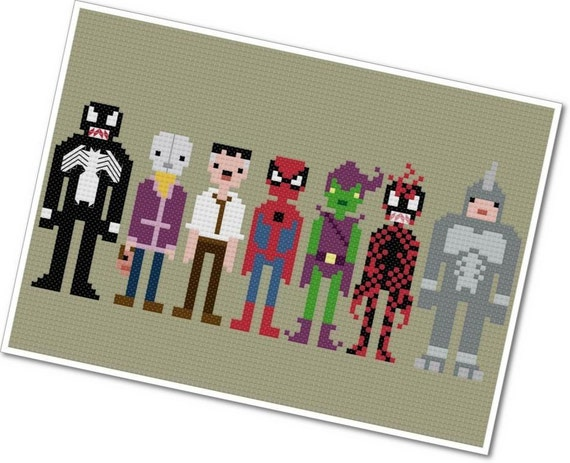 Spider-Man & Villains - The *Original* Pixel People - PDF Cross-stitch Pattern - INSTANT DOWNLOAD