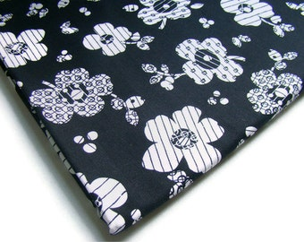 Black and White Floral Fabric, In Black and White by Michele D'Amore for Marcus Brothers, OOP