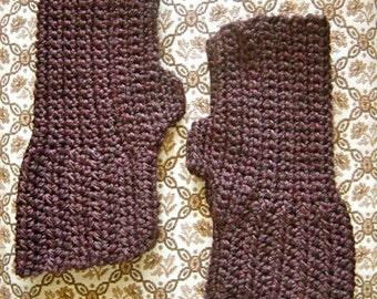 The Cary Fingerless Gloves - Luxurious Hand Crochet Merino Wool Wristwarmers