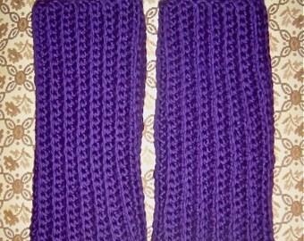 The Lena Fingerless Gloves - Luxurious Hand Crochet Merino Wool Wristwarmers