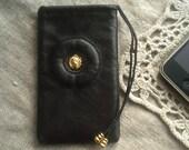 Handmade Leather Dark Brown iphone case
