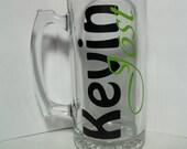 Personalized Men's Beer Mug