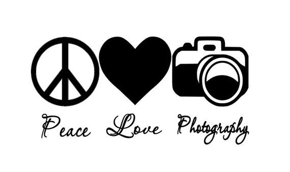 Peace, Love Photography Car Decal