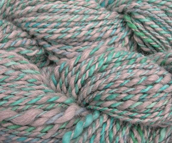 "Alpaca and Wool Yarn in ""Caribbean Vacation"" Colorways, 4oz, 138 yards"