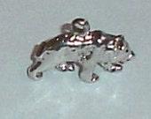 Vintage Sterling Silver Bear Bracelet Charm or Necklace Pendant