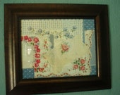 Vintage Hankie Collage, Framed