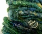 SALE- Handspun Art Yarn- Octopus' Garden- 4 oz