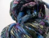 SALE- Handspun Art Yarn- Peacock- 4 oz