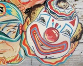 Vintage Masks Cardboard Reproduction Set of 5 Great for a Party or Banner