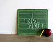 Vintage Student Chalkboard Slate Green
