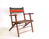 Vintage Chair Wood Folding Child's Beach Camp Chair