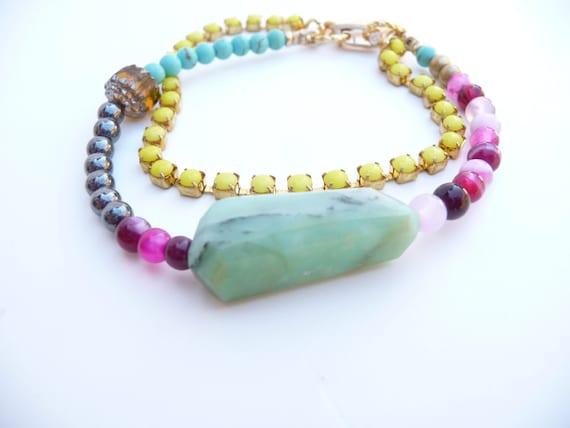 Mixed Beads and Peruvian Opal Friendship Bracelet