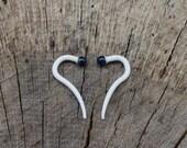 Milk Dip 10g gauged talons ear plugs earrings for stretched piercings