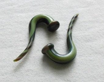Matcha Mocha Swirl Talons 2g gauged ear plugs earrings talons for stretched piercings