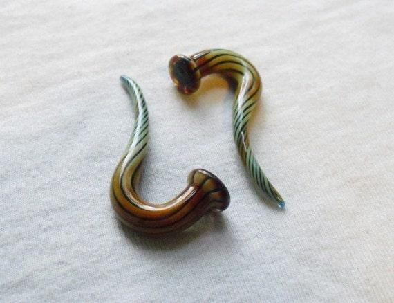 Brushfire 2g gauged ear plugs earrings talons for stretched piercings