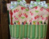 Multi Purpose Crayon Tote Bag Full of Goodies- Strawberry Fields