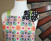 Childrens Apron- Bright and Yummy- Reversible and Adjustable